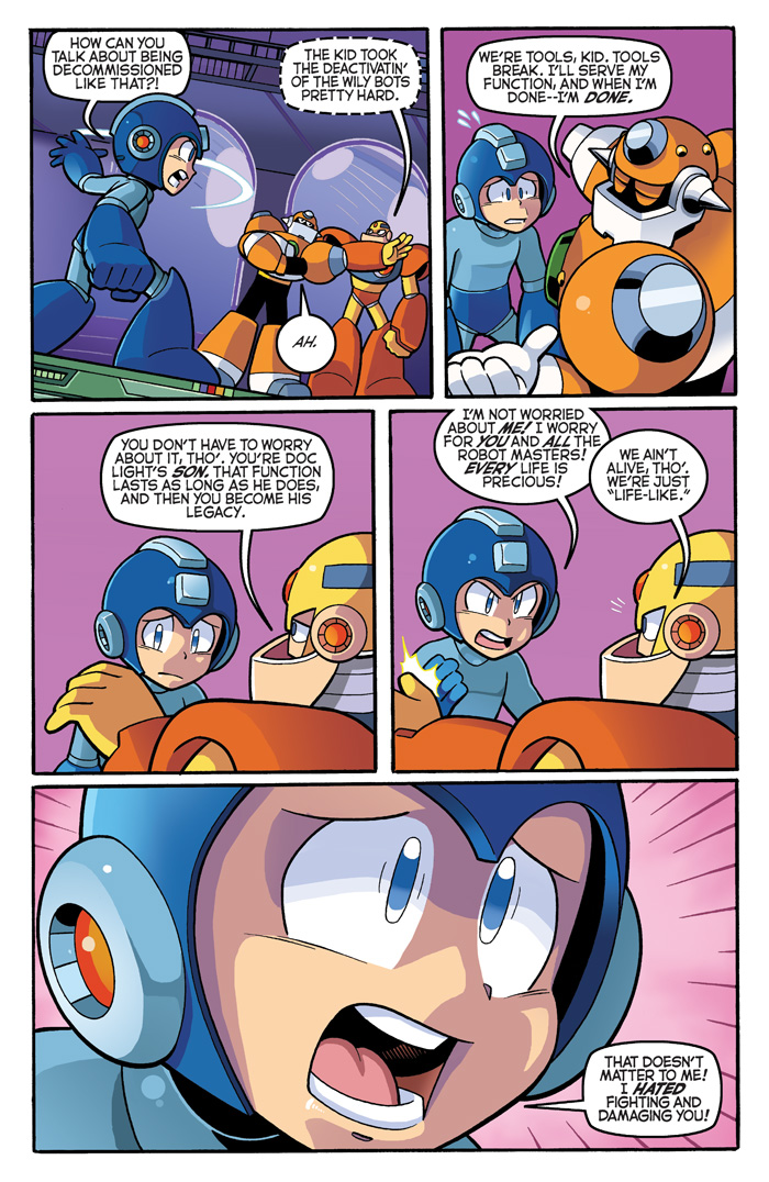 Wait a sec, real talk: Guts Man might be on to something here. Do you think Mega Man got recycled like the rest when Dr. Light kicked the bucket?