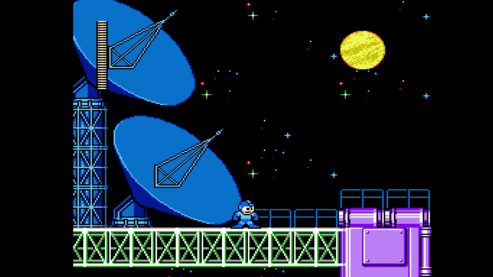 Mega Man's most crucial mission yet? To fix the receiver in time for the big game.