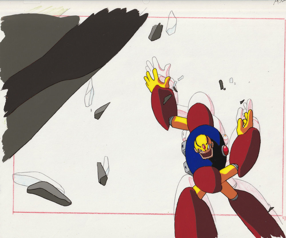Megaman 8 original animation anime production cel Guts man Rockman Mega Man