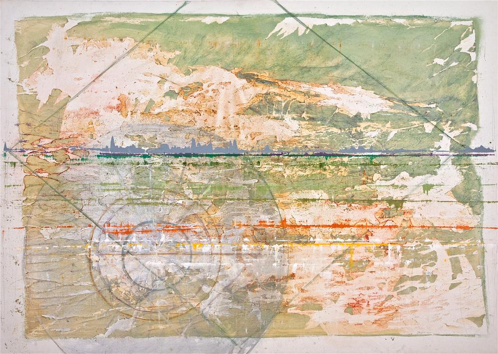 "As Above So Below –Mixedmedium on canvas (32""x45"")"
