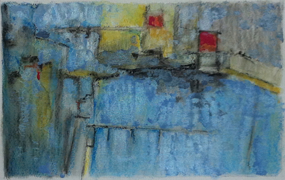 """Abstract on paper - (11""""x14"""")   Sold"""