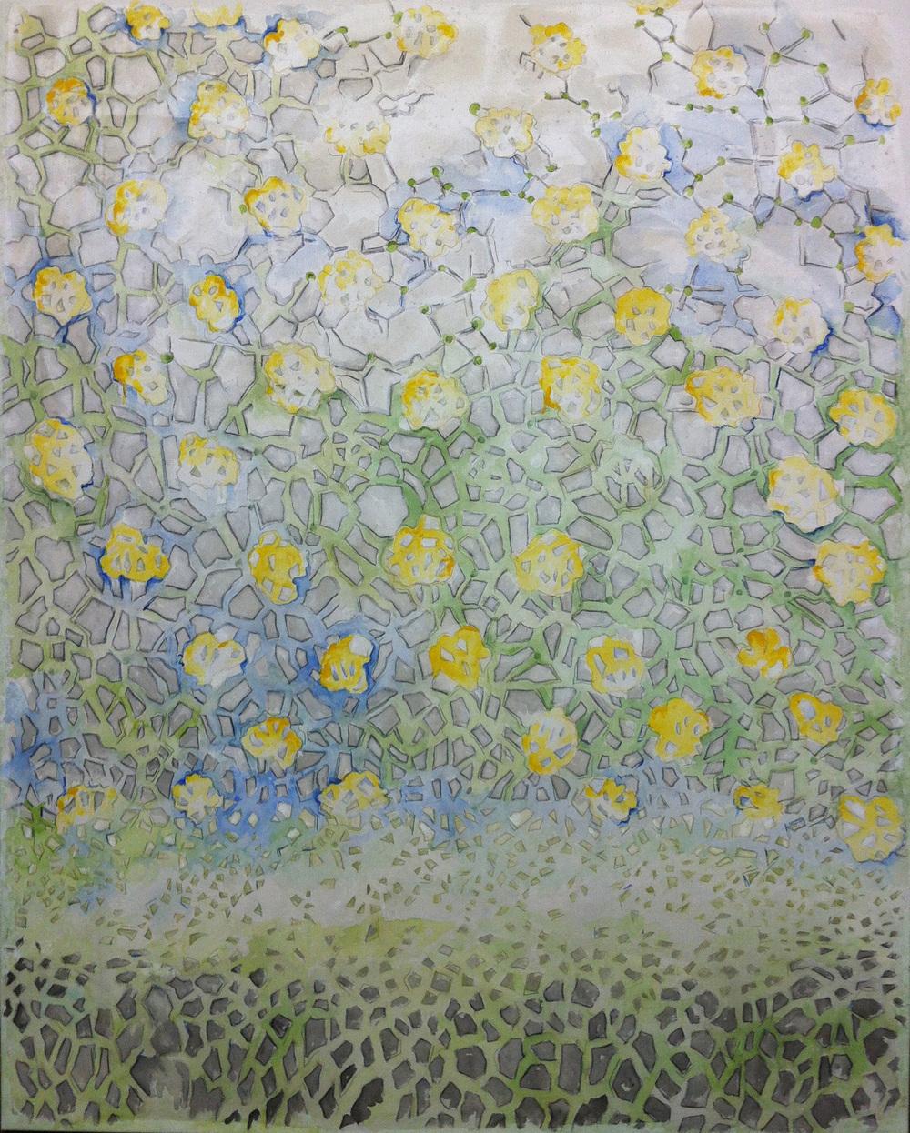 Small World –Mixed medium on canvas (4'x 5')   Sold
