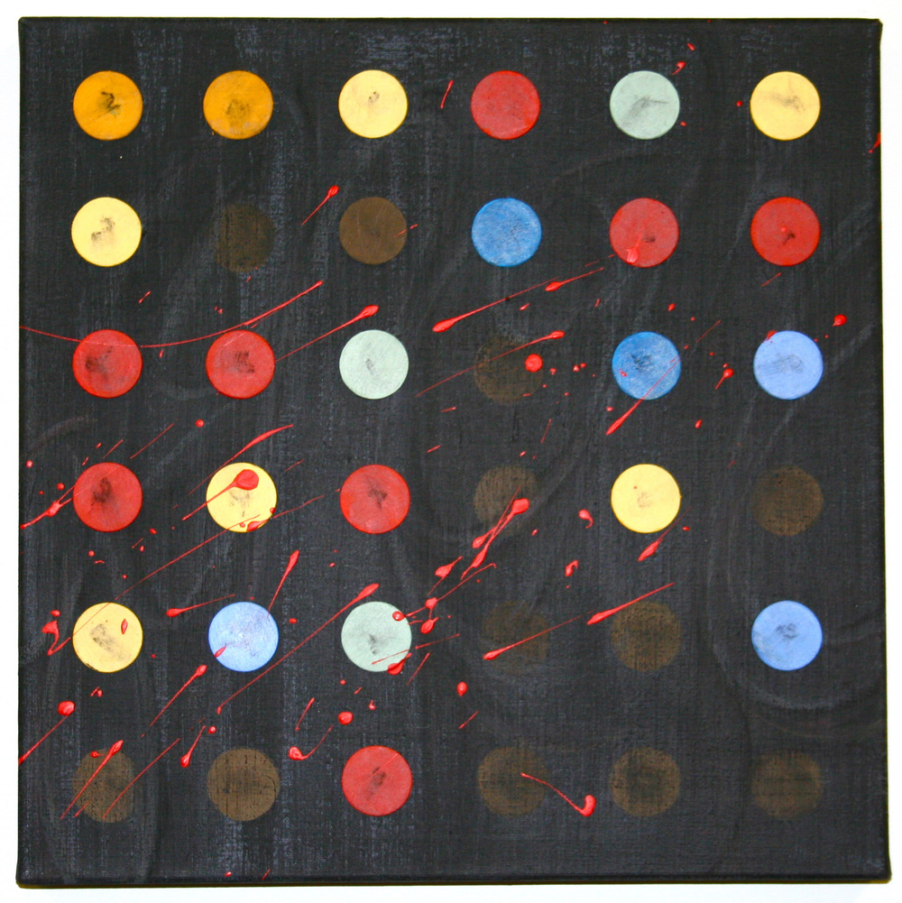 """Genome –Mixed medium on canvas (12"""" x 12"""")   Sold"""