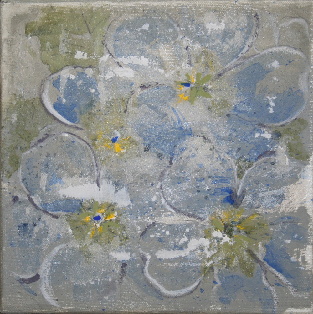 Flower 1 – Acrylic on canvas   Sold
