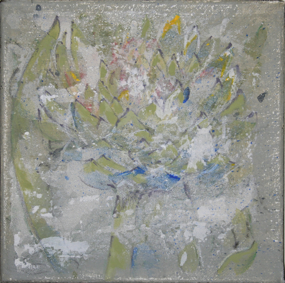 Flower 2 – Acrylic on canvas   Sold