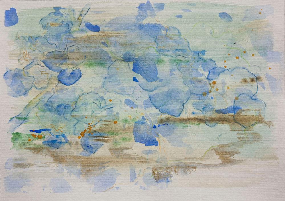 """Abstract - mixed medium on paper (11""""x14"""")   Sold"""