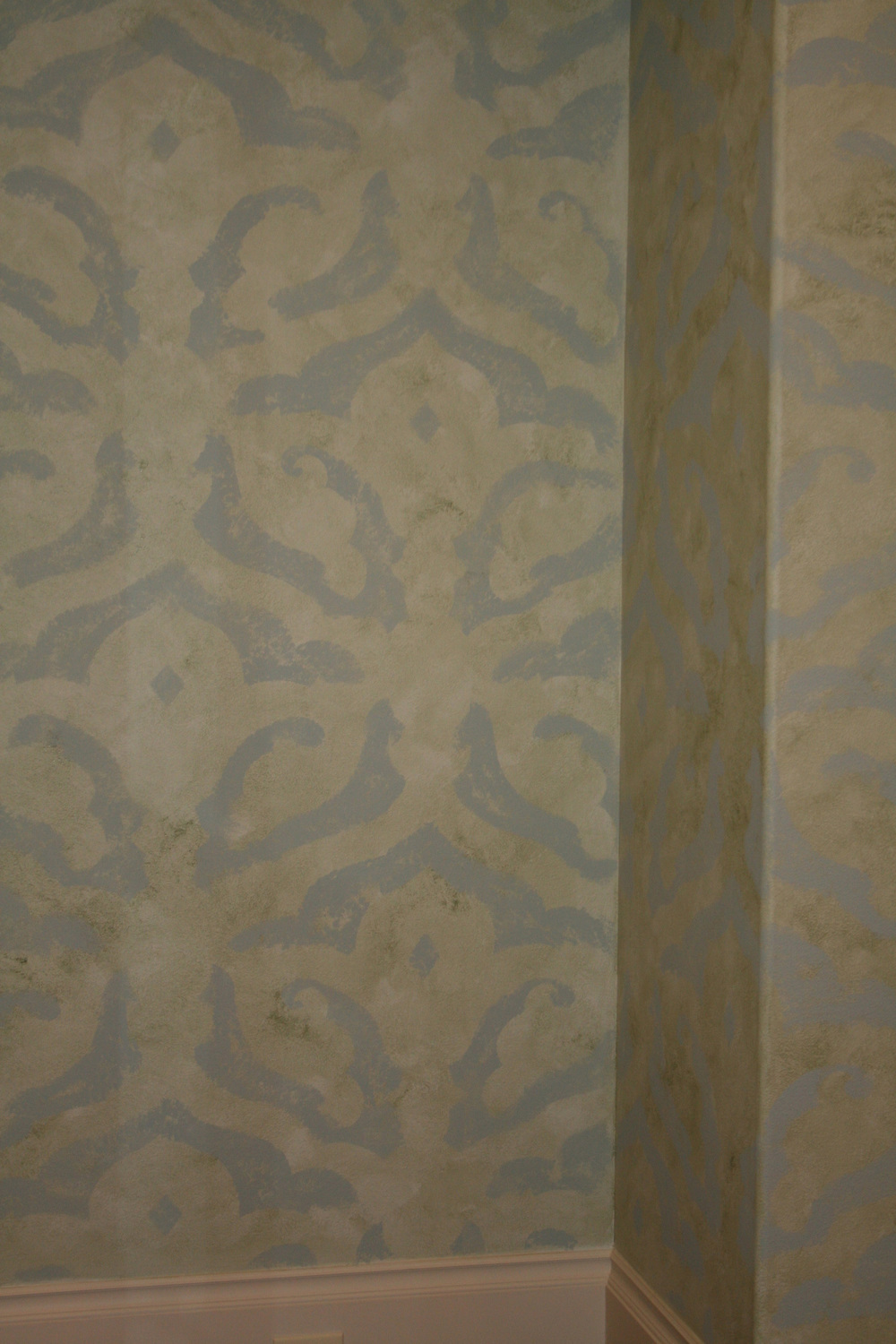Close up of custom designed pattern for walls