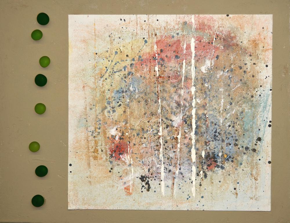 "Through the Veil - mixed medium on canvas (14""x18"")"