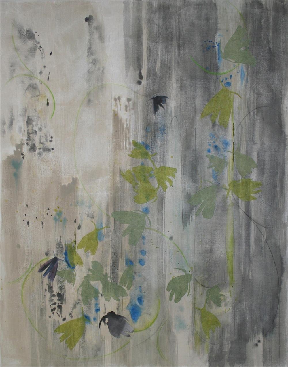 "Shadow and Light, Flight  - mixed medium on canvas (48""x60"")  SOLD"