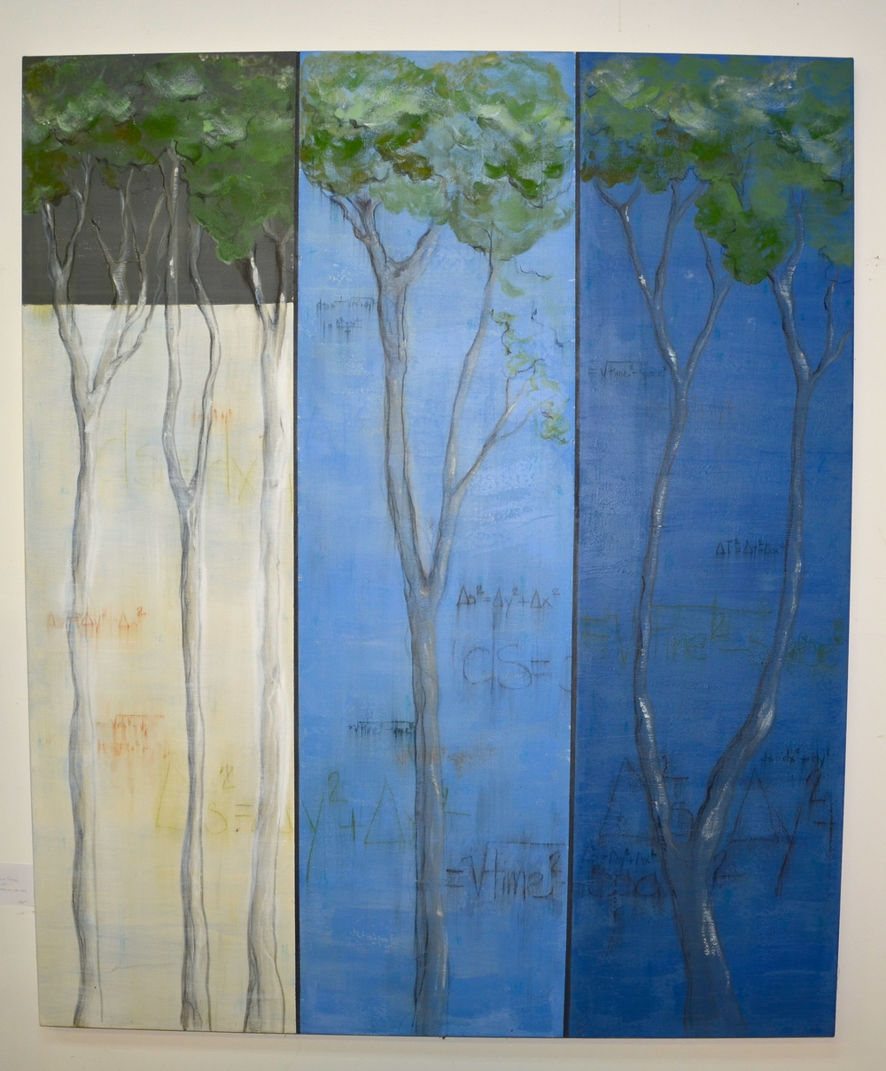 """Trees and Time - mixed medium on canvas (60""""x72"""")   sold"""
