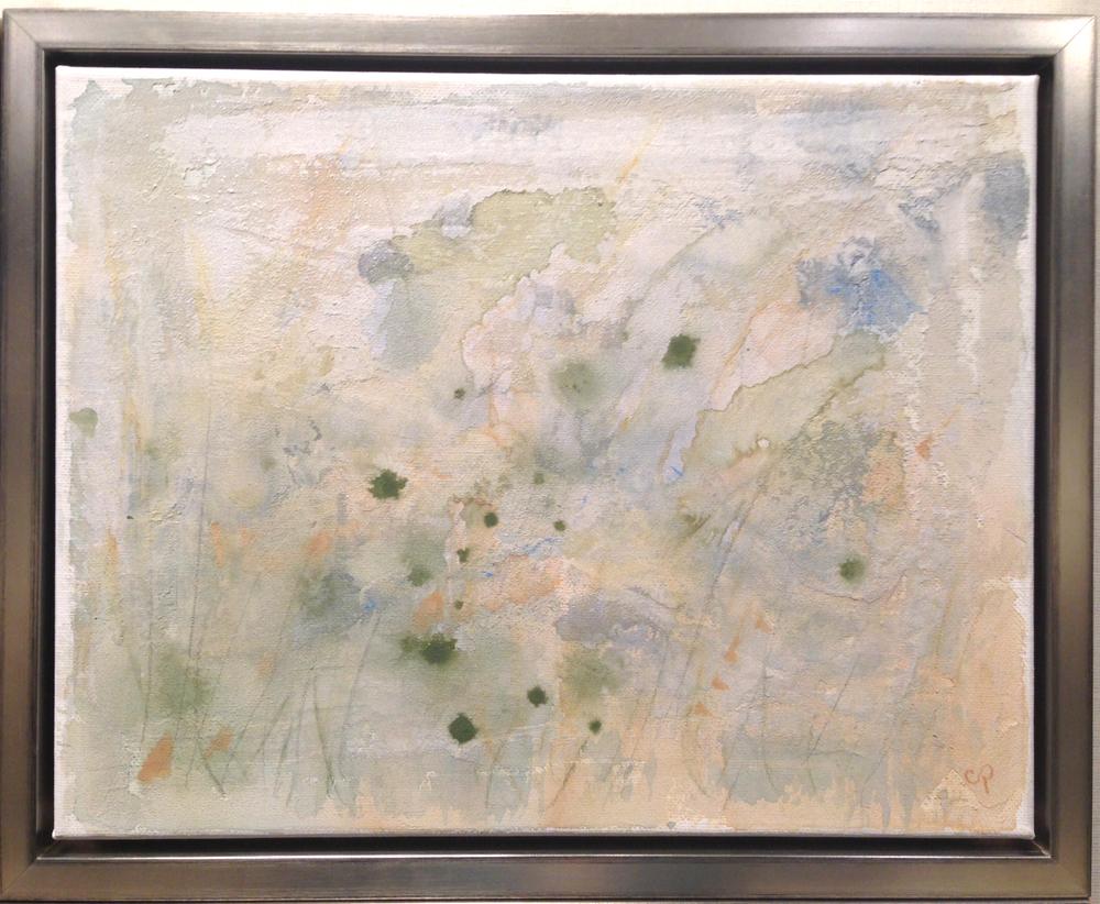 "Fog Lifting - mixed medium on canvas (11""x 14"")   Sold"