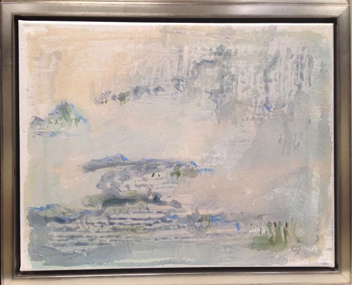 "Fog Lifting - mixed medium on canvas (11""x14"")   Sold"