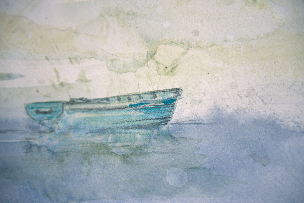 """Solitude Green - watercolor on paper (11""""x15"""")  Sold"""