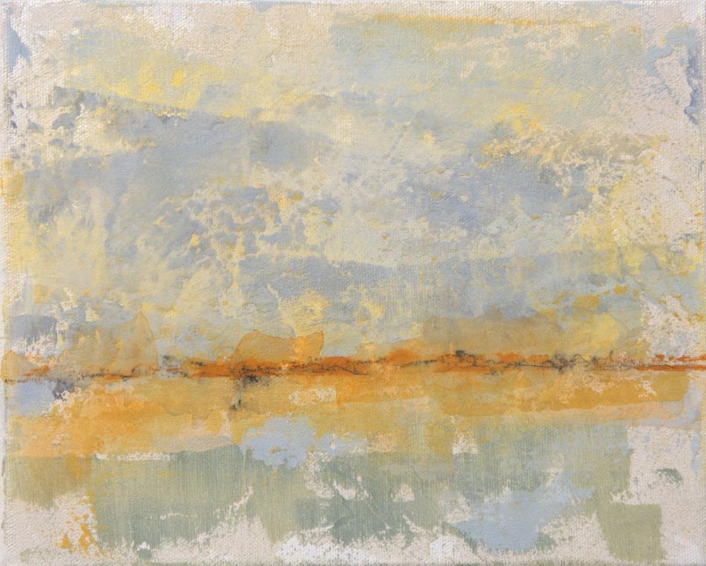 """Horizon - mixed medium on canvas (8""""x10"""")"""