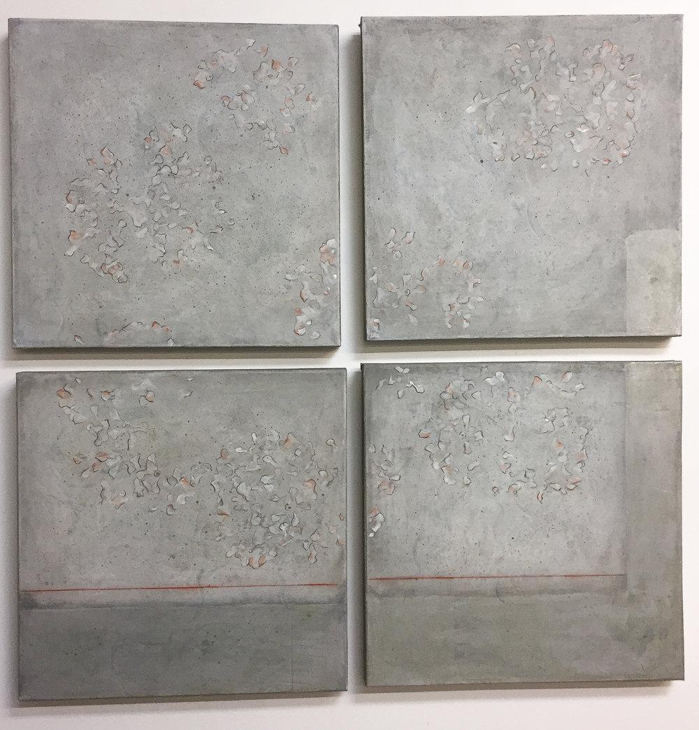 """Water Garden   (4 Pieces – 20"""" x 20"""")"""