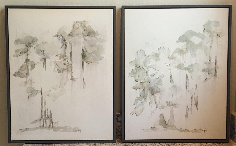 "Trees 2  (2 Piece – 18"" x 24"")"