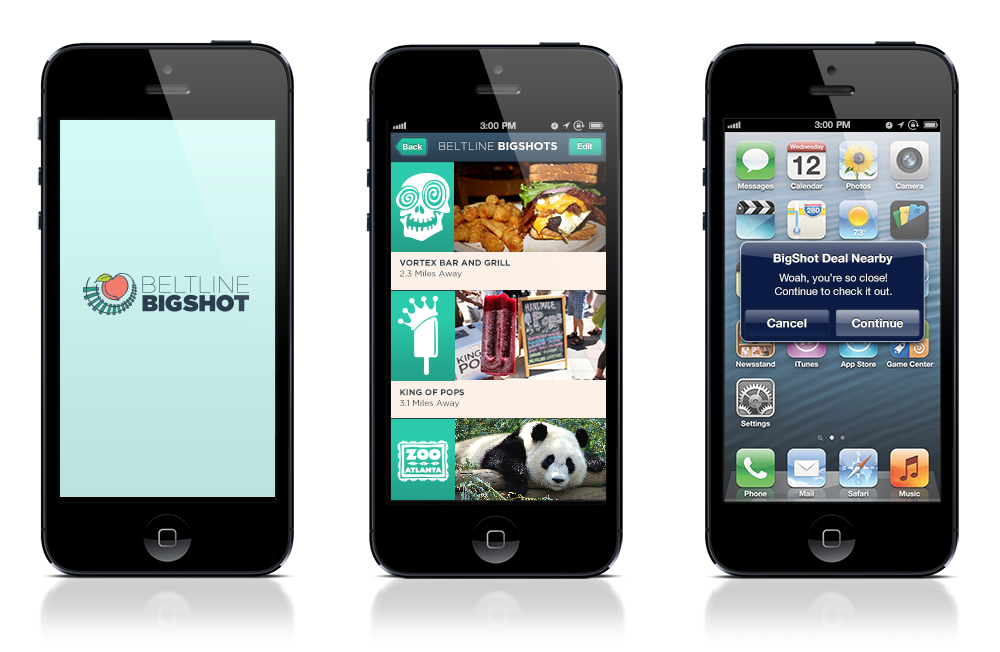 The BeltLine BigShot app keeps members informed on deals no matter where they are.