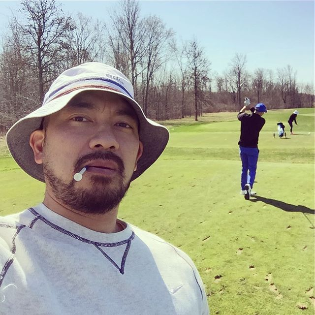 #firstround of the #golfseason #golf #golfing with @michellegbacani and my #brotherinlaw