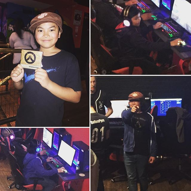 The #limboys at the #overwatch social event. And #brooklynrush #winning a prize.