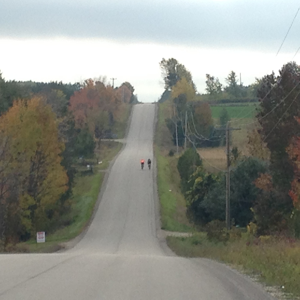 Looking south on Concession Road 6, 7km from Creemore