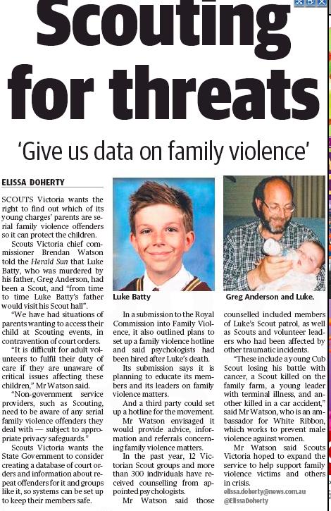 Herald Sun 27 July 2015
