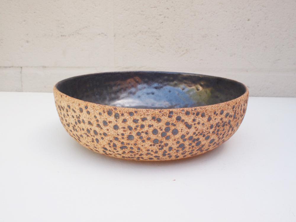 "#103 Meteor bowl 2.75"" h x 9.5"" d $100"