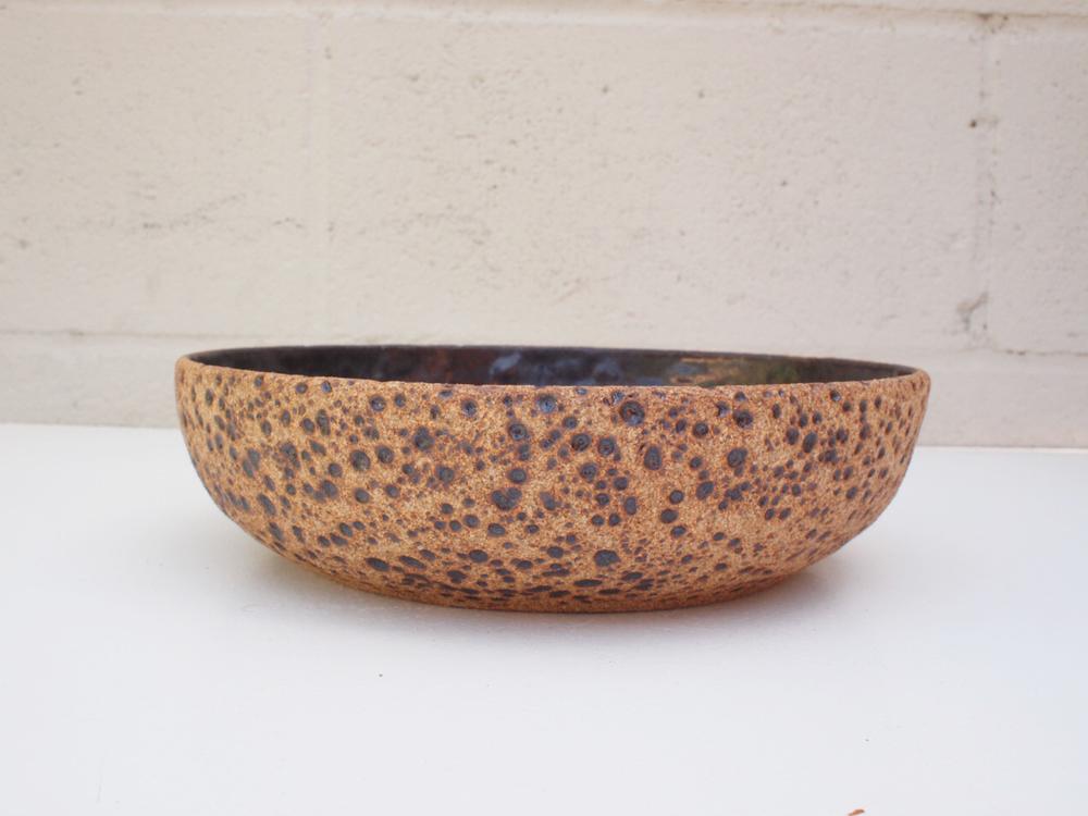 "#105 Meteor bowl 2.5"" h x 9"" d $100"