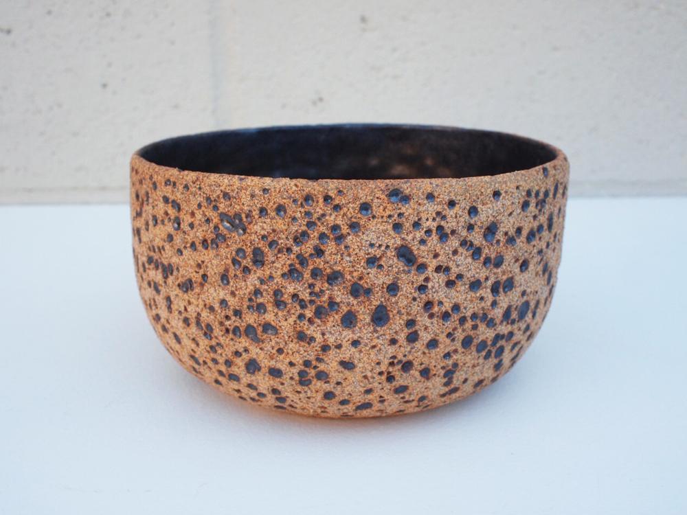 "#151 Natural meteor pot 3.5"" h x 6"" d $60"