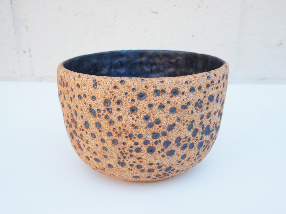 "#149 Natural meteor pot 3.75"" h x 5.75"" d $60 SOLD OUT"