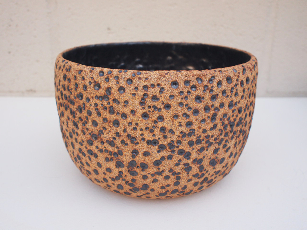 "#183 Natural meteor pot 5.25"" h x 8"" d $145 SOLD OUT"