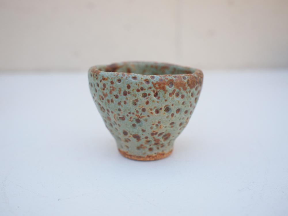 "#204 Pale blue green meteor cup 2.25"" h x 2.5"" d $20"