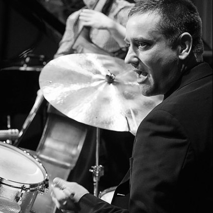 Andrew Dickeson on drums