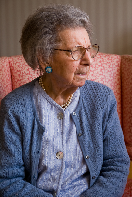 My wonderful Great Aunt Bert at 107 years old.