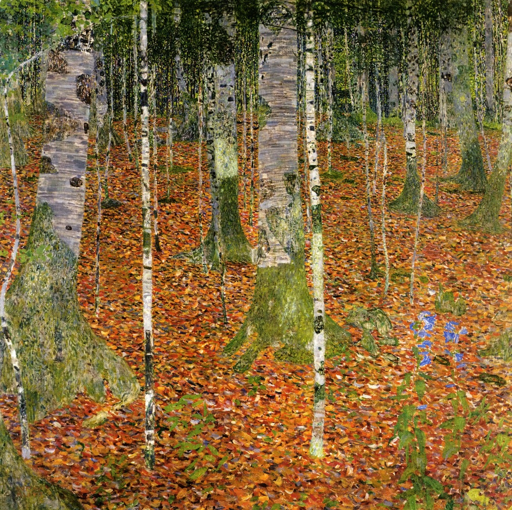 Gustav Klimt - Farmhouse with Birch Trees