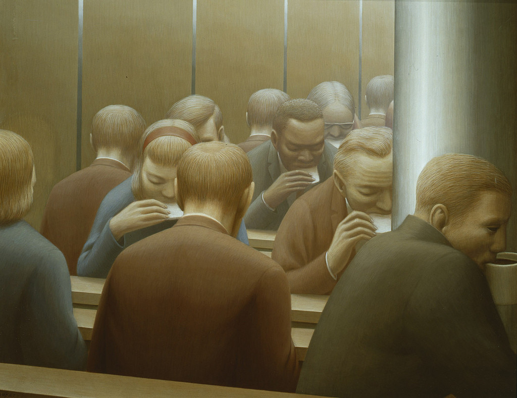 Artwork of the day:      George Tooker - Lunch  (1964)