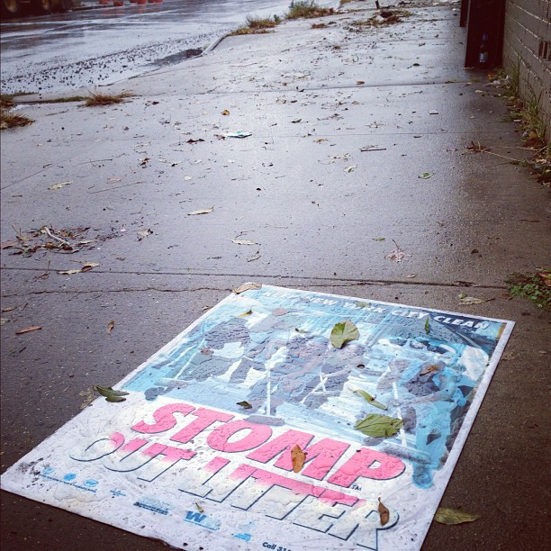 Blown onto the street with a bunch of other trash by #hurricane#sandy.  (at Bushwick, Brooklyn)