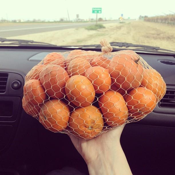 Sack of fruit - California