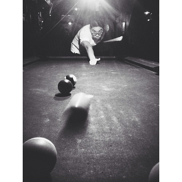Working on the billiards chops with @viewcashuh  (at Whiskey Ward)