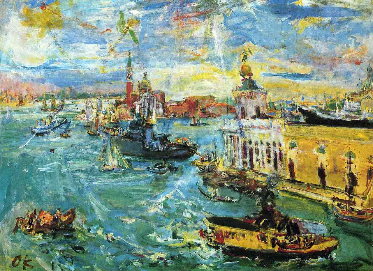 Artwork of the day:      Oskar Kokoschka- Venice Dogana  (1948)   Not sure if I love or hate this painting…