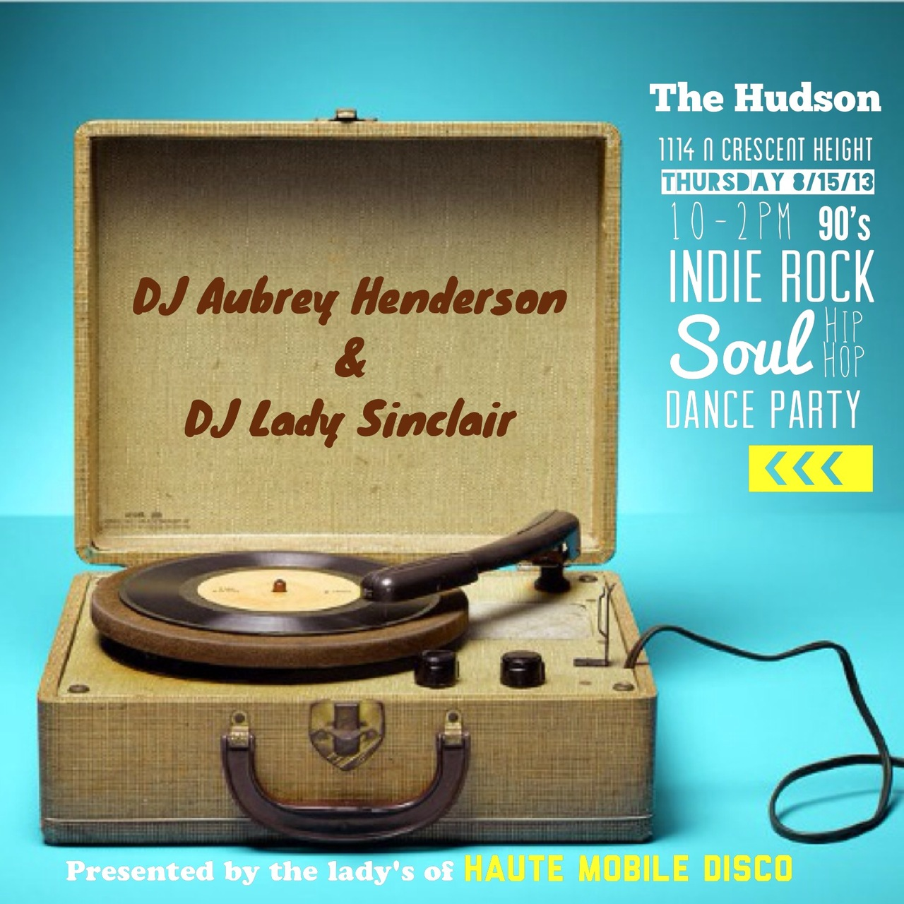 #thursday 8.15.13 The lady's of HMD be Jam'n at The Hudson Bar.  Come play.