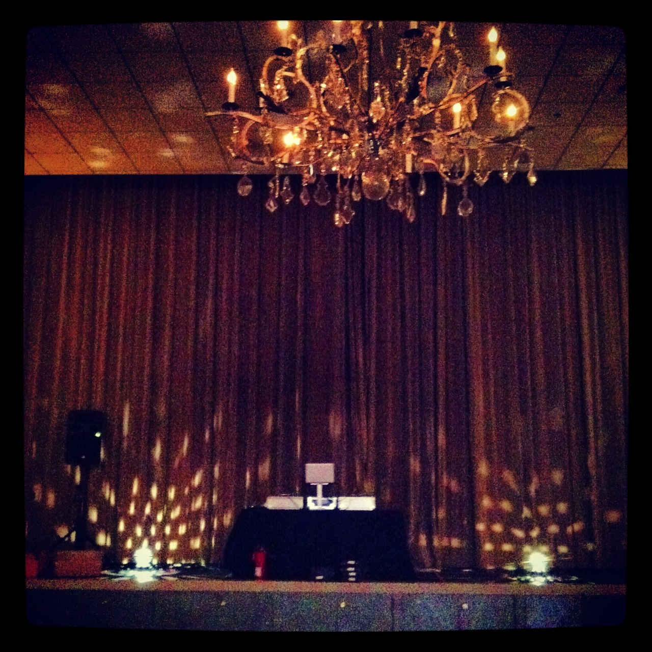 Haute set up!  We like our DJs to shine.