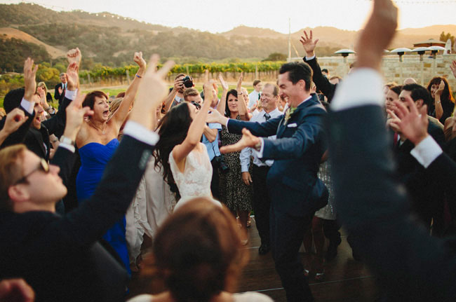 Let's dance! Where the newlyweds and the guests really get to mingle.