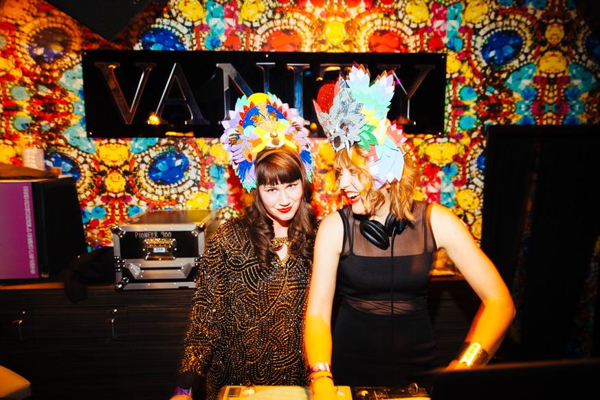 Haute Beat as DJ Lady Sinclair & Aubrey Henderson