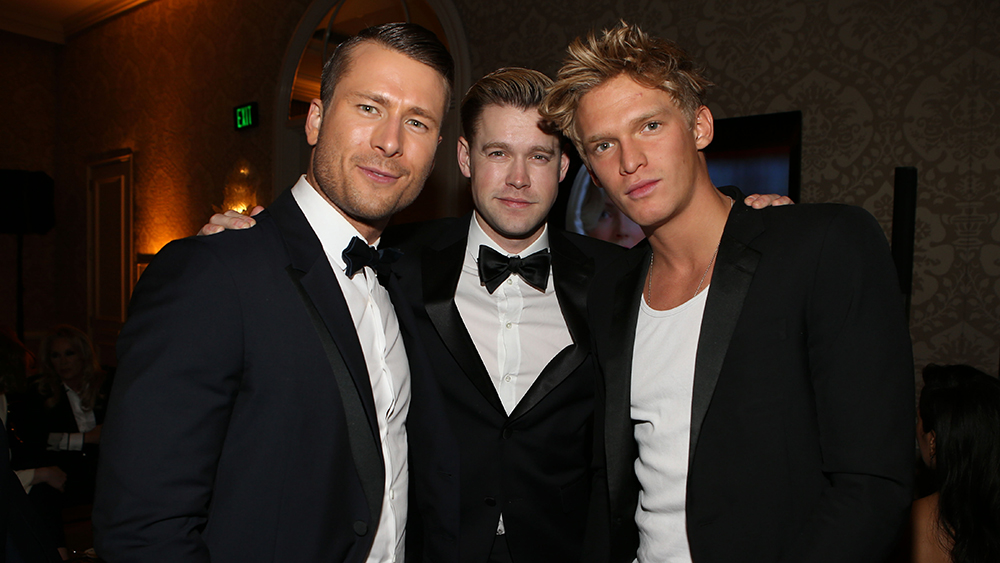 Glen Powell, Chord Overstreet, and Cody Simpson