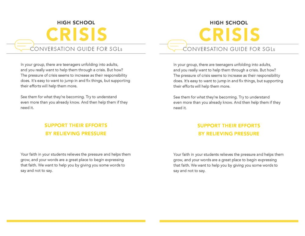High School Crisis Page 1