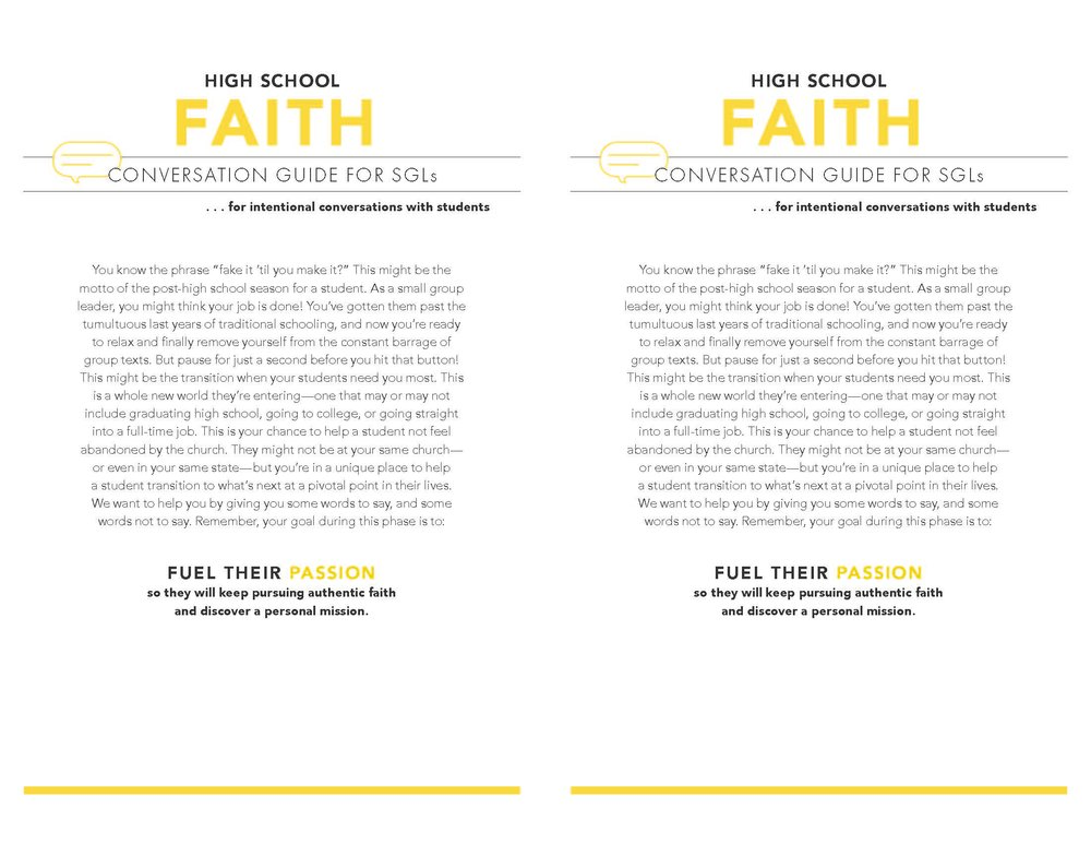 High School Faith Page 1