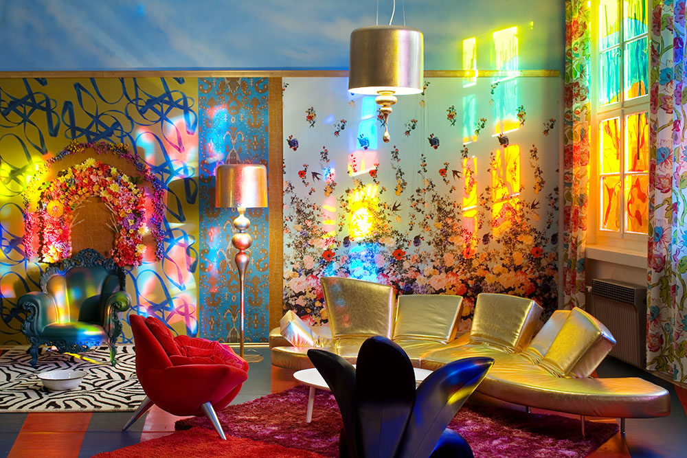 David LaChapelle Inspired Press Lounge