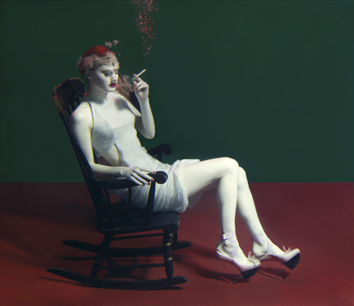 Georgie smokes