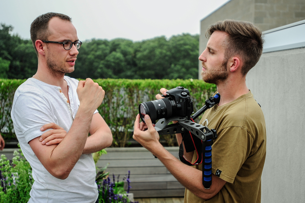 Director Jakub Jahn (left) and DOP David Markovic (right)