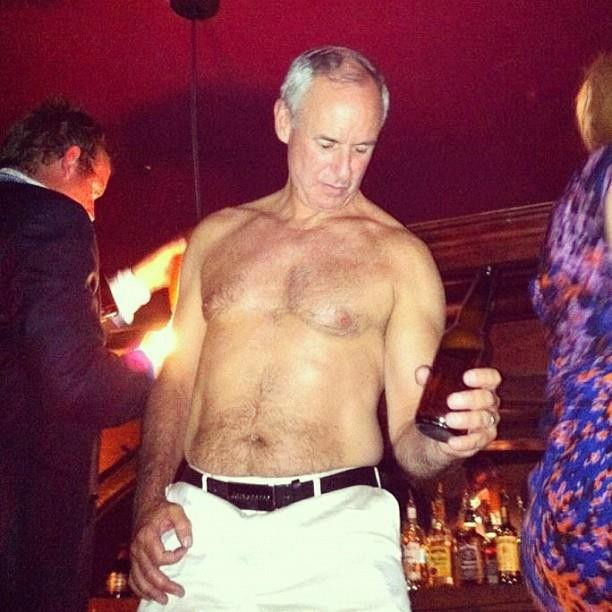 Ron MacLean, notorious party animal.
